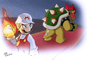 Final Battle (Mario Vs. Bowser) by SIMGart