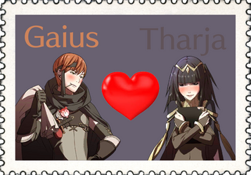 Fire Emblem Ship Stamp: Gaius x Tharja by FluffyKyubey42
