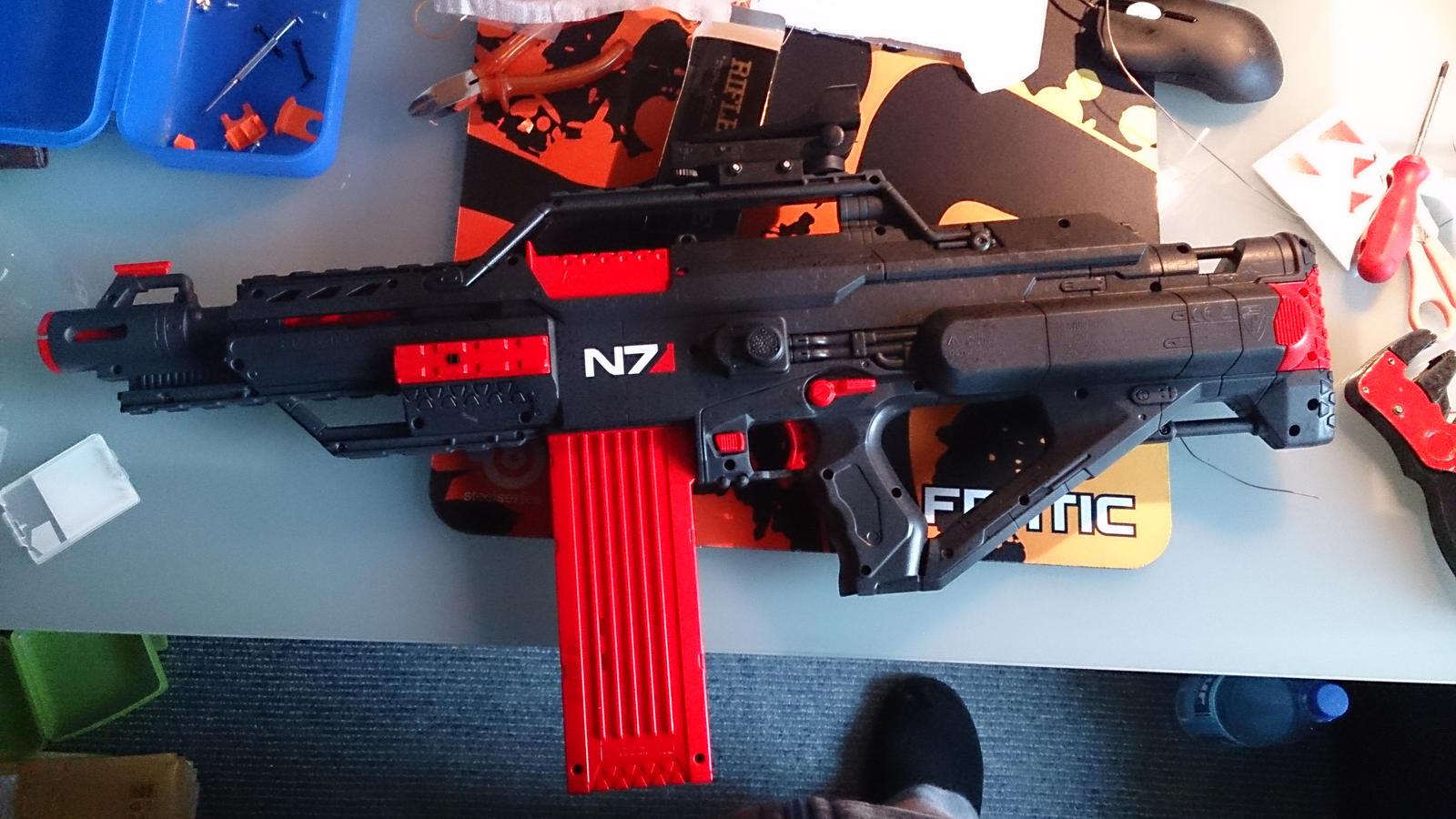 Mass effect n7 stampede nerf gun 2 by bbqjoe on deviantart - Nerf wallpaper ...