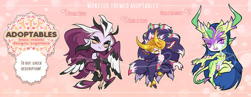 Adoptables: Monster Theme - CLOSED by risumiru