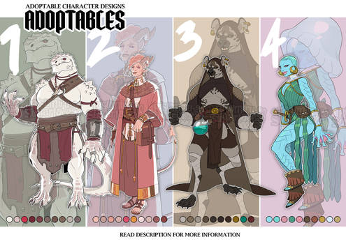 ADOPTABLES COLLAB: Fantasy Set [3/4 OPEN]