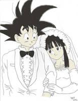 Goku's Wedding by Kosukeham