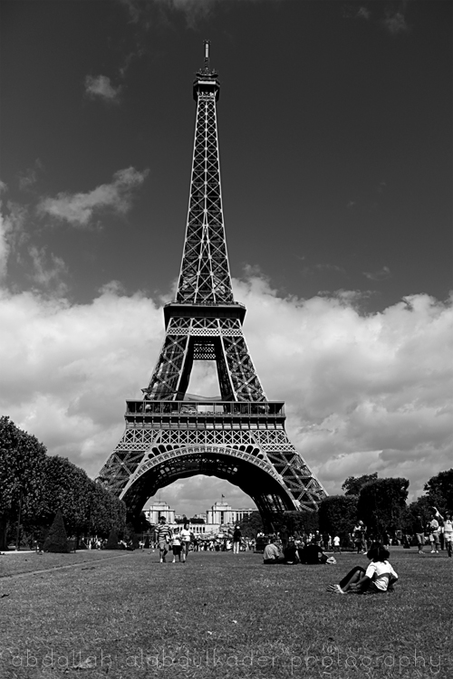 Eiffel Tower Black And White Eiffel Tower Black White by