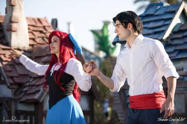 Ariel and Eric by ShizukaCosplayeArt