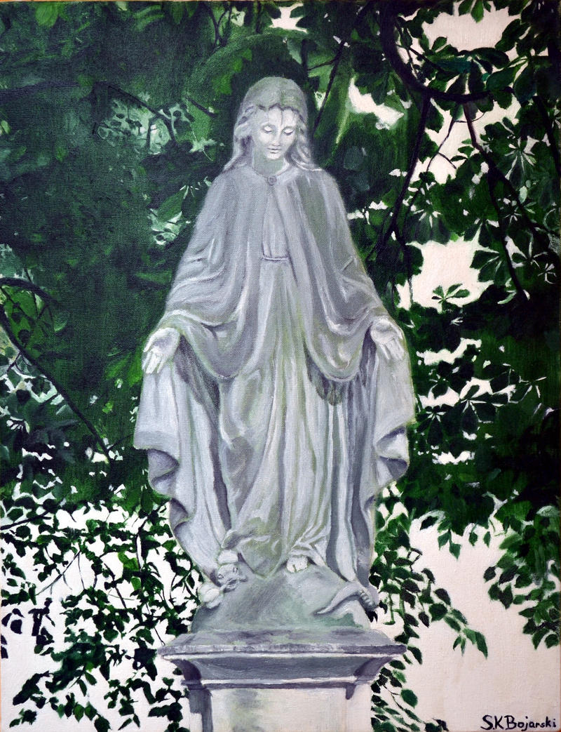 statue of virgin mary by naitsab85 on deviantart