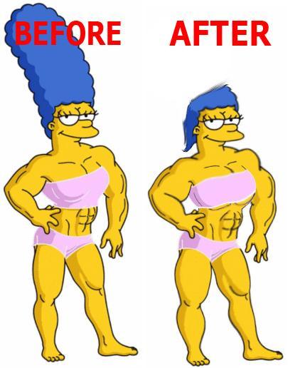 Muscle Marge Comparison By Cartoon Manipulator On Deviantart