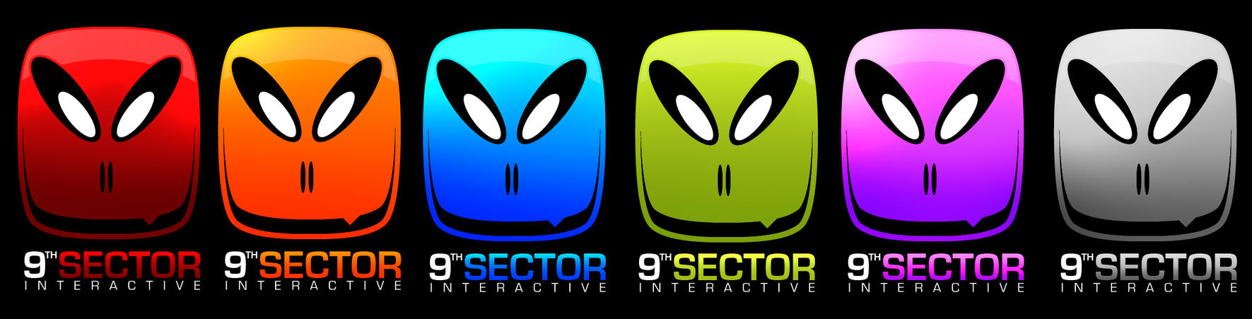 9thSector Logo Concept COLOURS by Nizzles