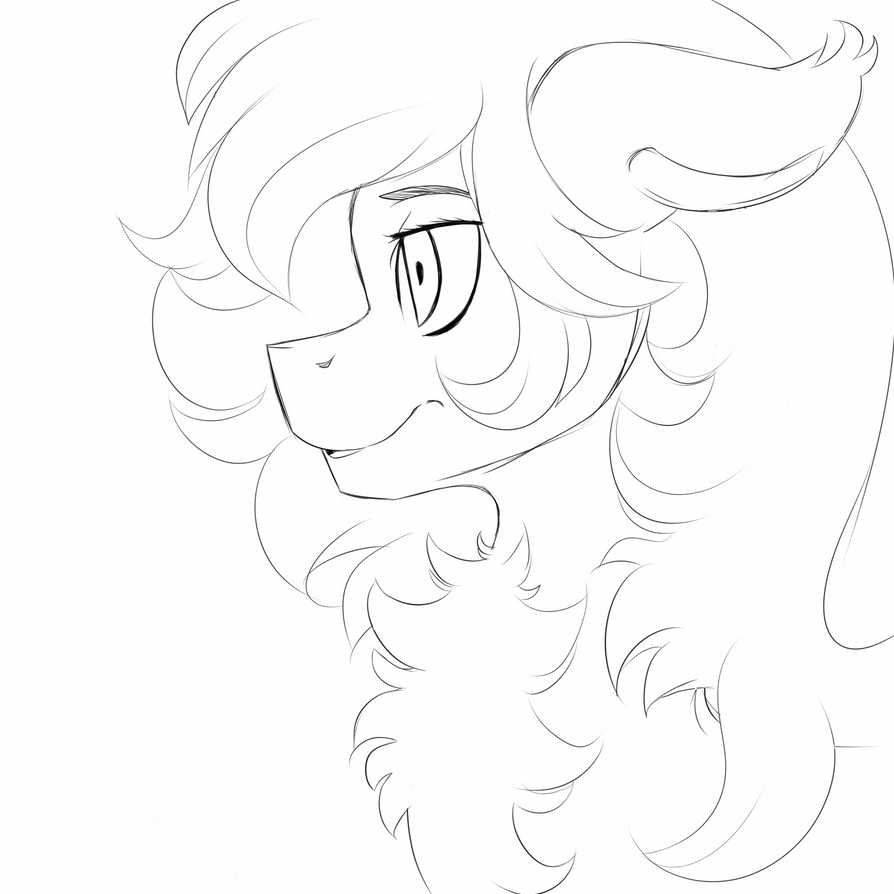 Pony Sketch by GalaxyOtter77