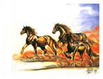 Chalk horses