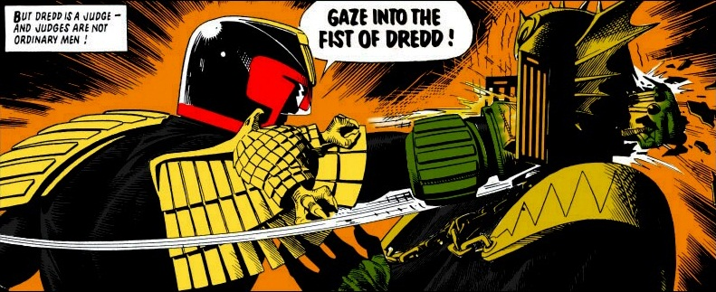 Dredd's punch by iron-ghos