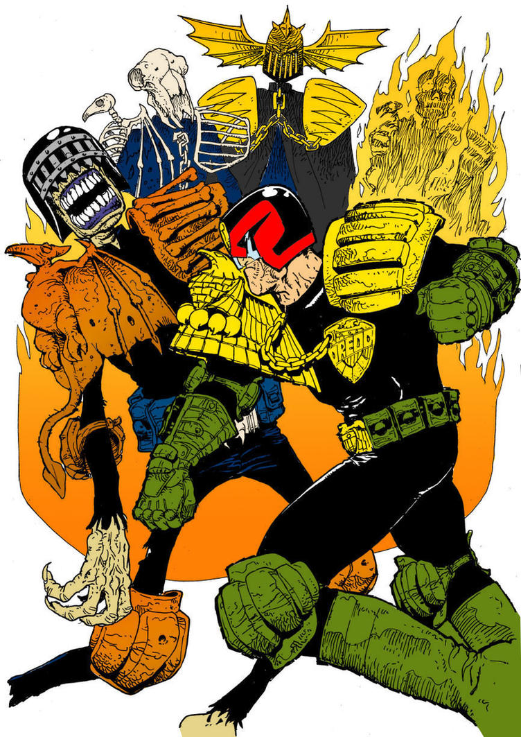 Dredd vs Dark judges by iron-ghos