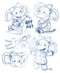 Children's Book Elephant Doodles