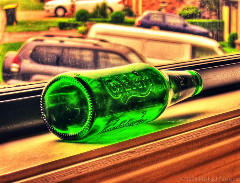 Carlsberg Beer Bottle HDR