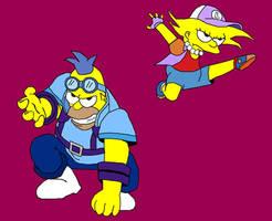 Anime Homer and Lisa by Barricade9-1-1