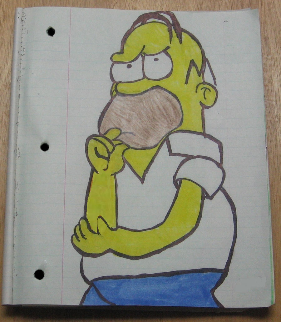 Homer thinking by Barricade9-1-1