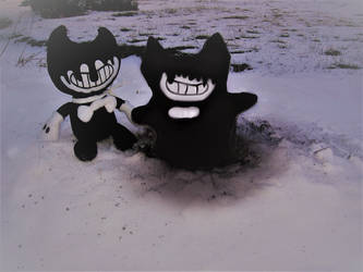 Ink Bendy with his  Inky snow self by Barricade9-1-1