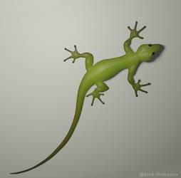Gecko 3D sculpt
