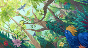 Lonely Bird of Paradise page spread