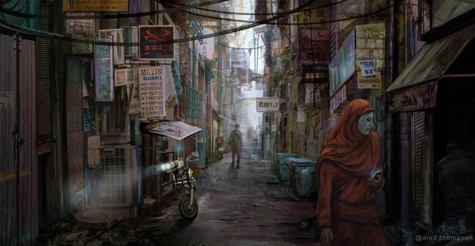 Sci-fi City Streets Concept
