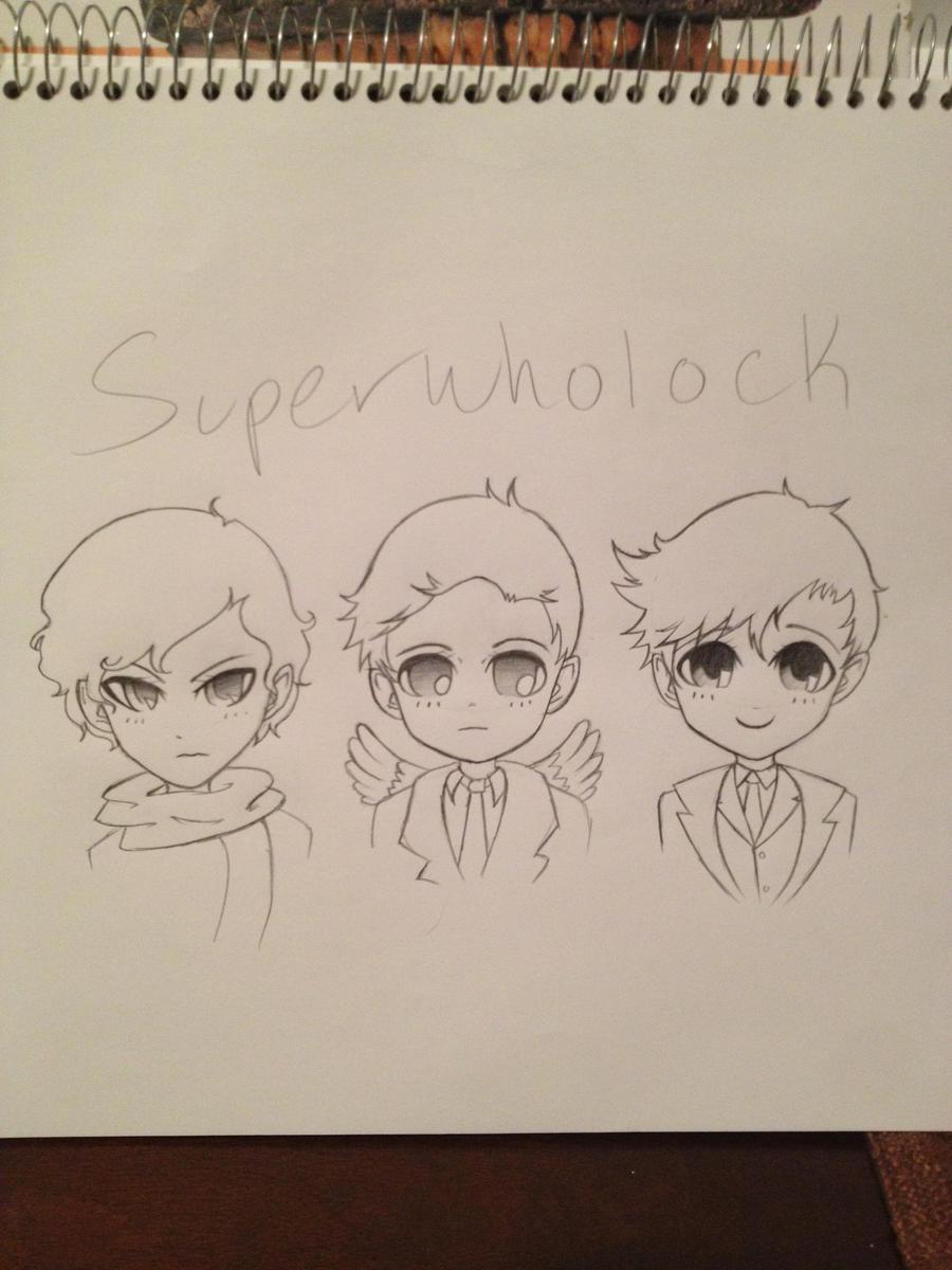 Superwhomerlock Wallpaper