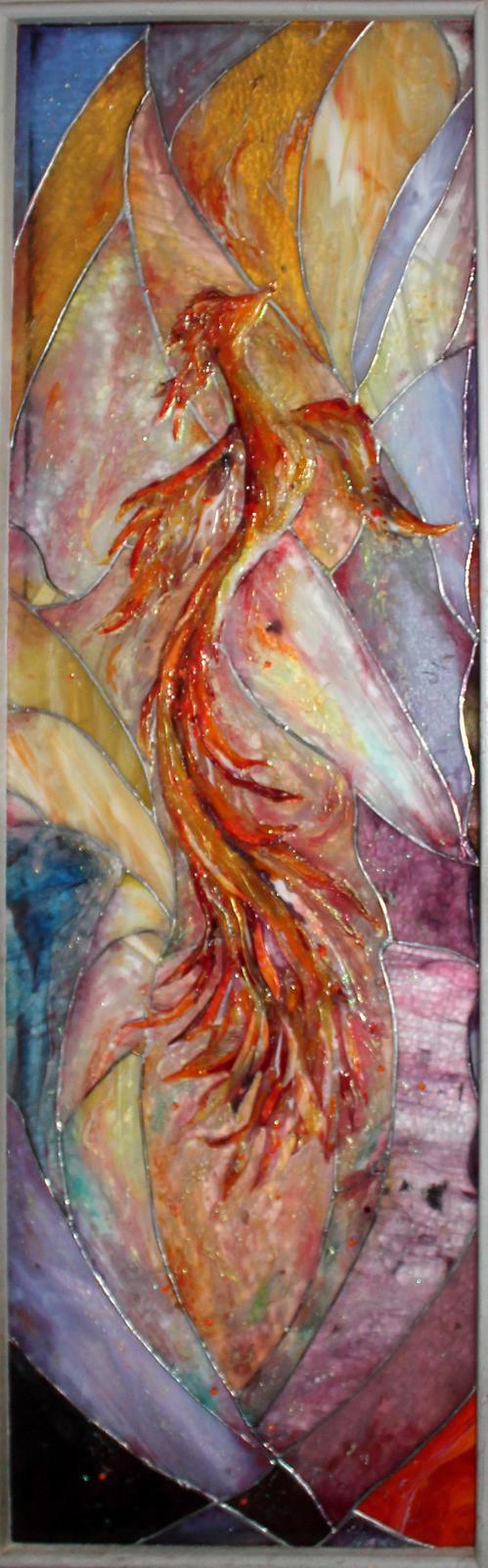 Stained glass Phoenix by Svetlana-Eliro