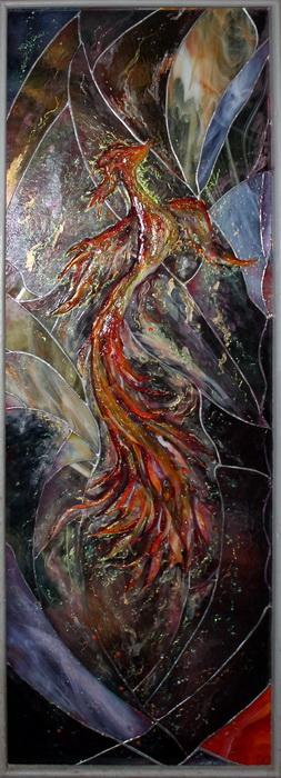 Phoenix stained glass by Svetlana-Eliro