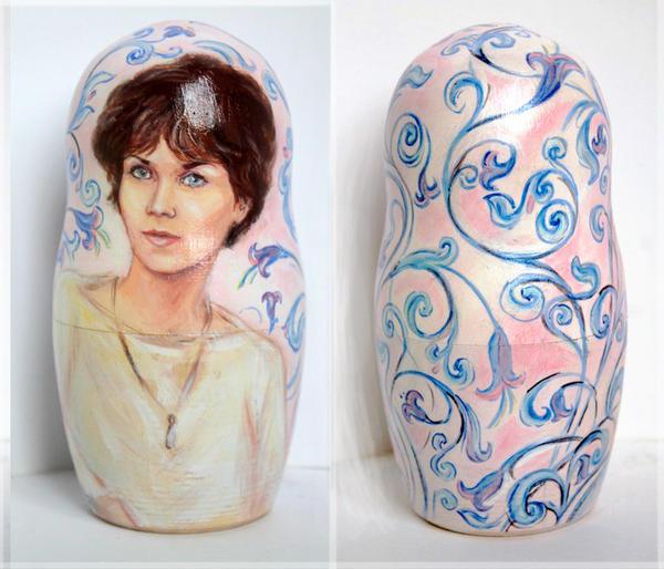 portrait on Nested doll by Svetlana-Eliro
