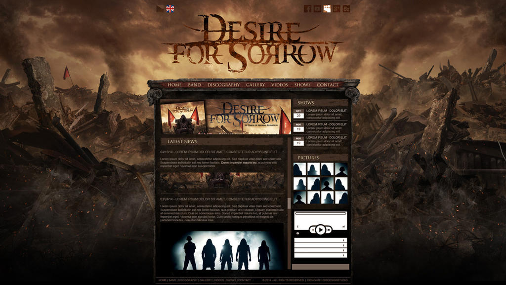 DESIRE FOR SORROW webdesign