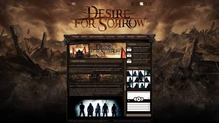 DESIRE FOR SORROW webdesign