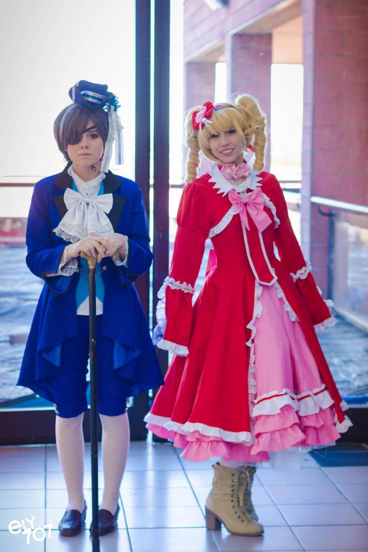 Elizabeth and Ciel cosplay by TemyNyan