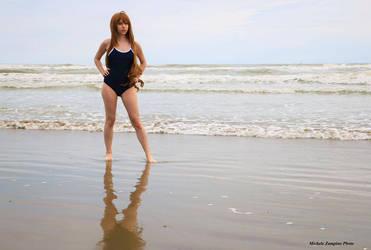 Taiga Aisaka at the sea~ by TemyNyan