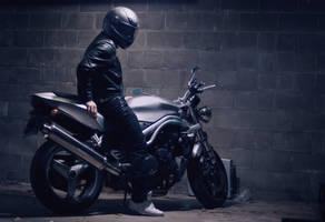 motorcycle test by halfamazin