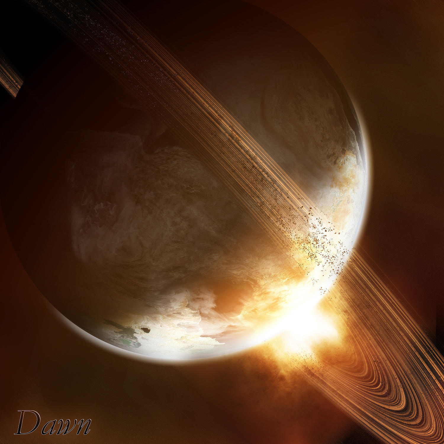 Anneaux de Saturne dans Divers Dawn_by_AP123