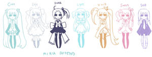 Miku Append designs by Belindraw