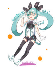 Happy Birthday Miku!!! by Belindraw
