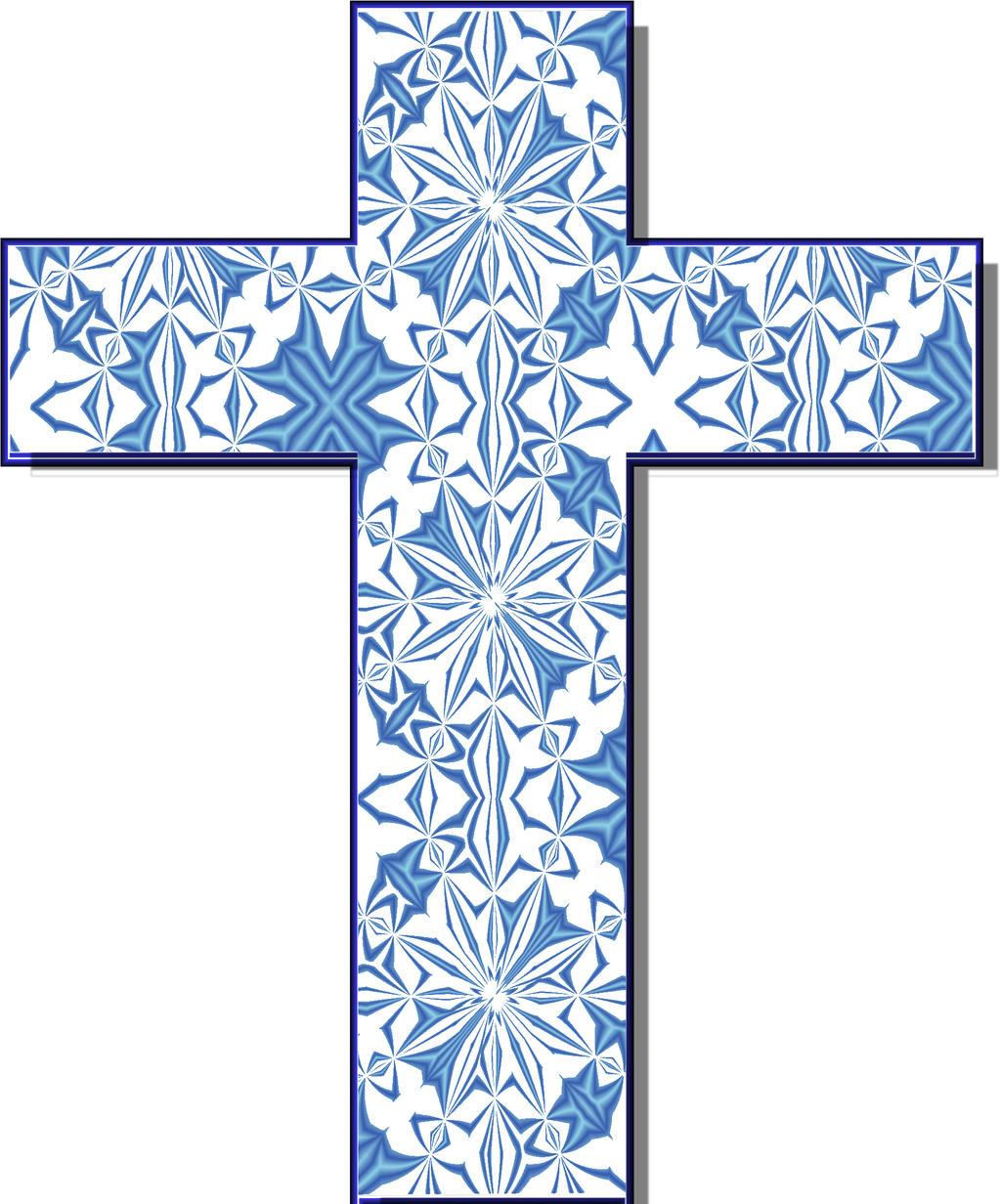 christian cross clip art blue - photo #12