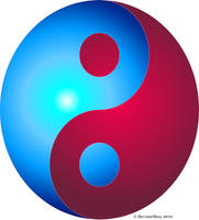 yingyang 3: red and blue by DeviantMary