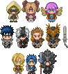 2D chibi characters 2 by Cucureuill