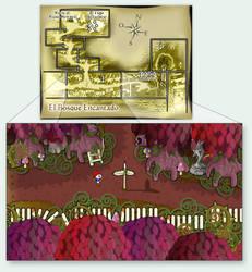 El mapa del Bosque Encantado