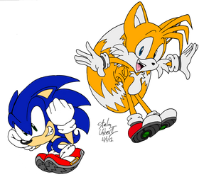 Retro Pose, Sonic and Tails!