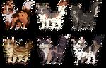 Warrior Cat Adopts 4 .closed