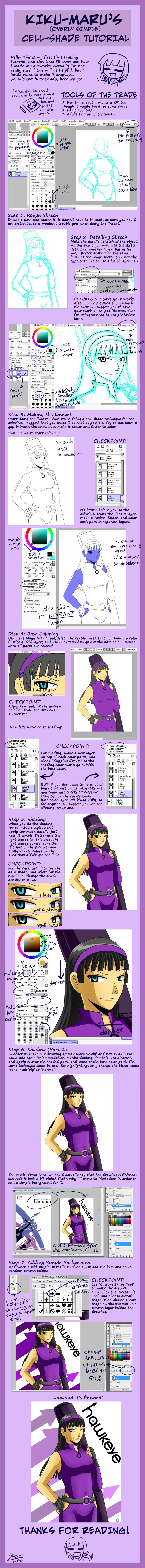 Cell-shade Tutorial Thingy by kiku-maru