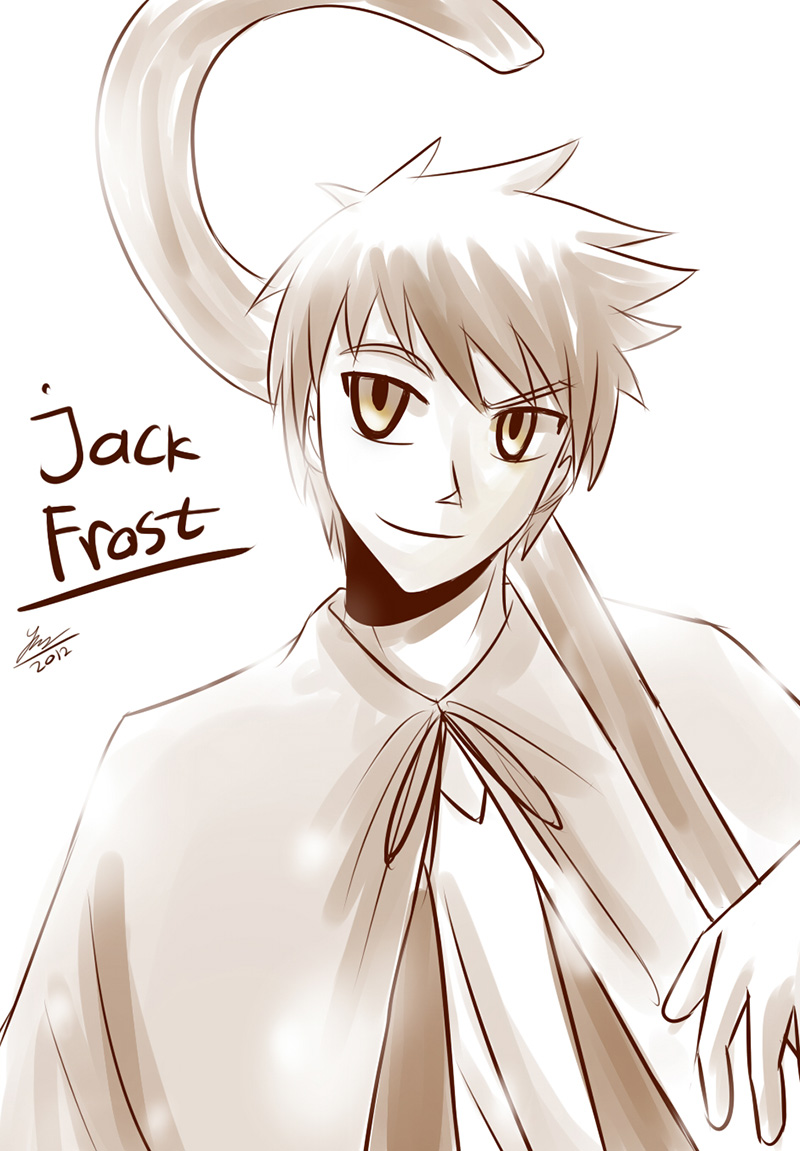 Sketch exchange: Jack Frost by kiku-maru