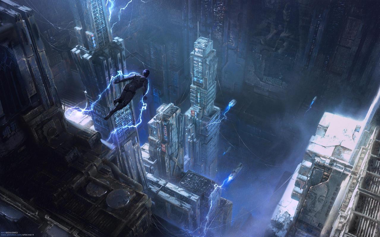 Icarus City by MaxBedulenko