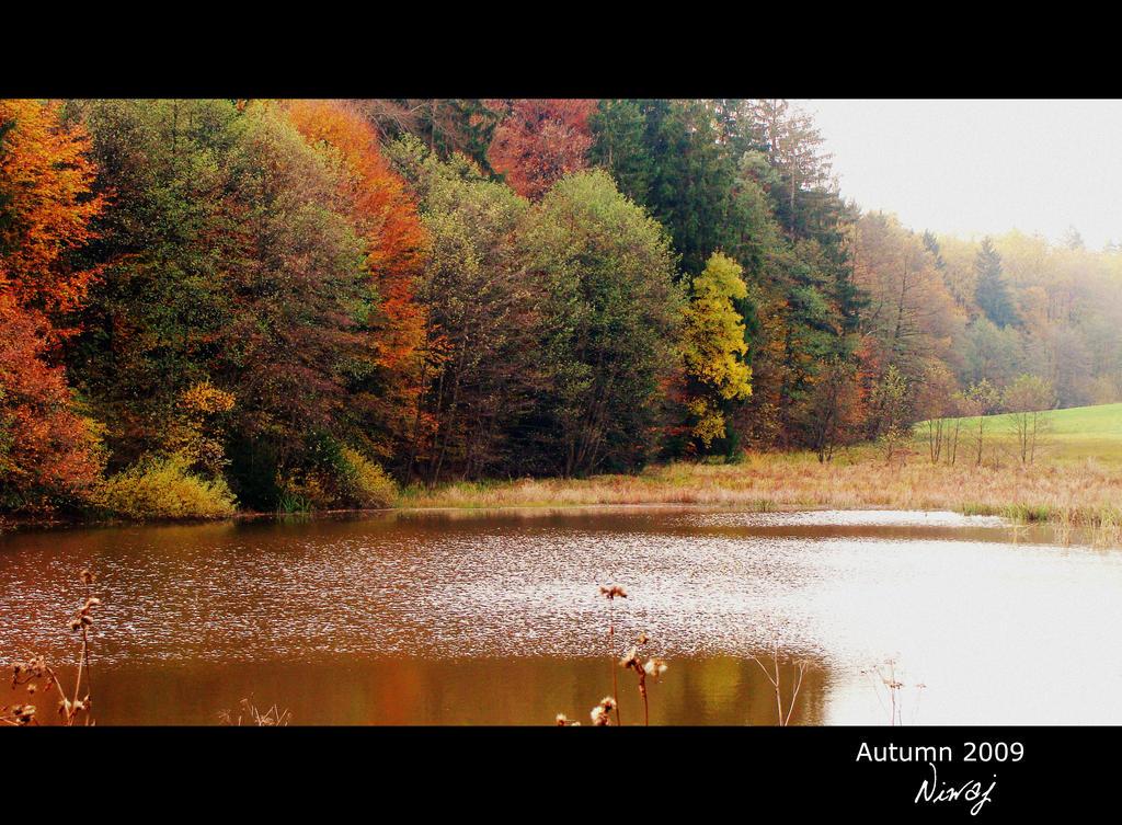 Lake in autumn by niwaj