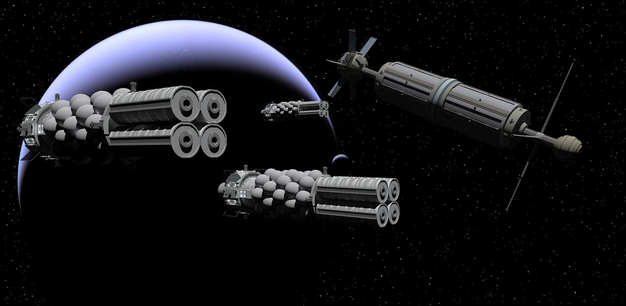 Interplanetary Freighters by Vumpalouska