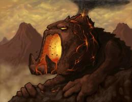 Mountain Elemental by inkblast