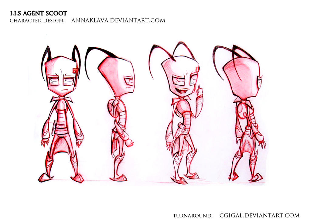 I.I.S Agent Scoot Turnaround by CGIgal