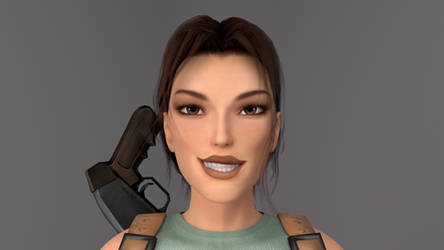 Portrait: Lara Croft by Philosophoholic163
