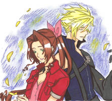 Cloud X Aerith by ClaireRoses